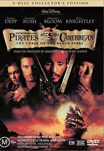 Pirates Of The Caribbean 1 (DVD, 2 discs set, 2011, R4) - Used Good Condition