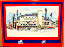 Chicago White Sox Comiskey Park 75 years commemorative vintage art print 18 x 24