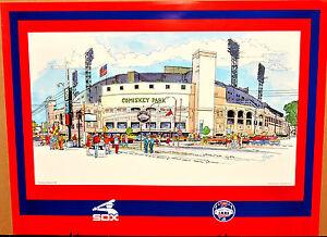 Chicago White Sox Comiskey Park 75 years commemorative vintage art print 18 x 24