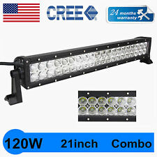"21"" 120W CREE Led Light Bar Spot Flood Offroad Truck Driving 12V 24V SCREWS QUIN"