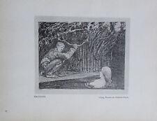 1912 Max Klinger VERLOCKUNG alter Druck old print
