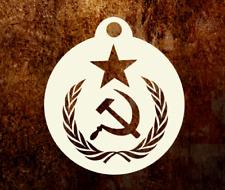 """RUSSIAN USSR HAMMER SICKLE FLAG EMBLEM WW2 MYLAR 4"""" STENCIL MILITARY CRAFT ETC"""