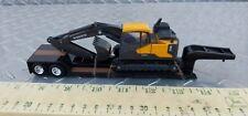 1/64 ertl custom farm toy volvo excavator loaded lowboy trailer semi dcp s scale