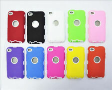 Hot New Heavy Hybrid Silicone Hard Skin Case Cover For iPod Touch 4th Gen FF