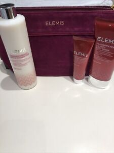New Elemis frangipani body Cream, Hand Balm Shower/bath Milk Gift Set + Bag