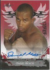 Daniel Acacio 2010 Leaf MMA Red Autographs Card # AUDA1 UFC