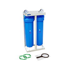 "2 Stage 20"" with 2 x gauge Whole House water filter System 1"" ,20""x4,5"" HHBB20A"