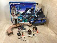 Playmobil 5775 Pirates Attack Ship Skull & Crossbones Sail Prison Almost Complet