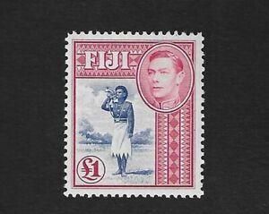 1950 Fiji KG6 £1 ultramarine & carmine SG266b - MLH
