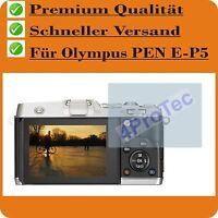 4 x Olympus PEN E-P5 CrystalClear LCD protector de pantalla guardia