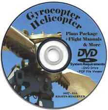 Gyrocopter Helicopter Plans Package + Flight Manuals and More
