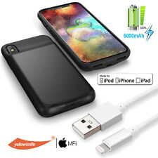 Ultra-Slim Battery Case Backup Power Bank Charger Charging Cable For iPhone X AU