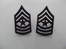 (A29-006) US Rangabzeichen Metall  Sergeant Major Schwarz