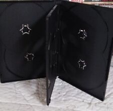 "1 Brand New Premium Black Multi Six 6 Discs Dvd/Cd/Pc/Vg Media Case, 1/2"" 14mm"