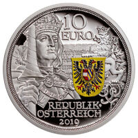 2019 Austria Knight's Tales Chivalry 1/2 oz Silver €10 Coin GEM Proof SKU58033