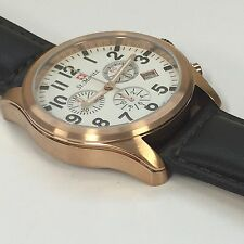 Elegante Rotary ST MORITZ Cronografo Cinturino in Pelle Marrone Orologio da uomo gs03609 / 18