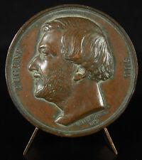 Medaille Eugène Sue écrivain french Writer Emile Rogat sc 1846 medal