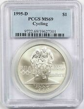 1995-D Olympics Cycling $1 PCGS MS 69 Modern Commemorative Silver Dollar