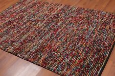 """5'8"""" x 8' Hand knotted 100% Wool Designer Area rug Modern contemporary"""