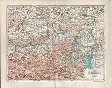 Landkarte map 1907: NIEDER-ÖSTERREICH. Maßstab: 1 : 850 000 Europa