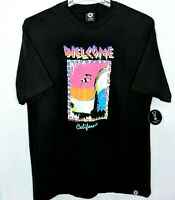 NWT Welcome Skateboards Tracking T-shirt Black Multi-Color Graphic California XL