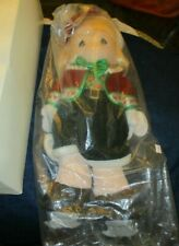 """new Precious Moments 16"""" doll, Tara dressed in Christmas outfit with ice skates"""