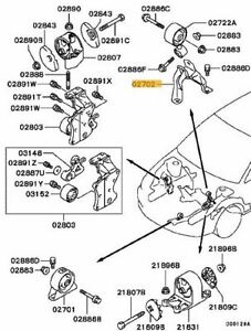 SUPPORTO MOTORE INFERIORE MITSUBISHI LANCER EVOLUTION 7 8 9 VII VIII IX MR554652