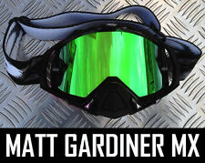 MONSTER GREEN MIRROR LENS to fit OAKLEY MAYHEM MOTOCROSS MX GOGGLES tear off