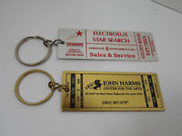 LOT 2 THEATRE CENTER FOR ARTS TICKET SHAPED METAL KEYCHAINS