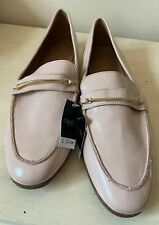Next Ladies Shoes 8 Flat Loafers Smart Summer Pale Pink Penny Bar Vegan New £28
