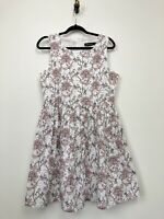 Dangerfield Womens Dress Floral A-Line Spider Insect Graphic NEW
