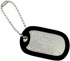 2 Personalized Golf Bag Tags Custom Embossed - Military Dog ID Tag - Golf Gifts