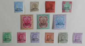 ME) British Somaliland. QV and KE VII. Mint hinged. All will lift from page. 99p