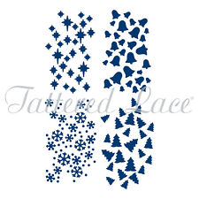 Tattered Lace Cutting Dies  MELDED CHRISTMAS BACKGROUNDS ETL313 Stephanie