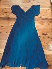 CITY CHIC NAVY OPEN SLEEVE LINED FLOWING DRESS  SIZE: S BNWD