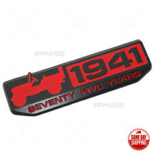 For Jeep Front Fender Door 75 Th Anniversary 1941 Logo Emblem Nameplate Badge Fits 2012 Jeep Patriot