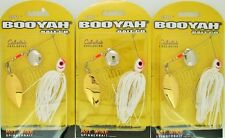 (3) Booyah Bait Company 3/8 Oz Hotwire Spinner Baits Snow White BYCCT38615