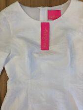 Lilly Pulitzer NWT Kayla Stretch Dress Resort White Caliente Pucker Jacquard Sz4