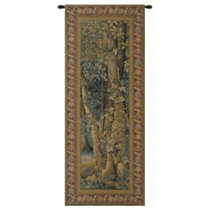 """Vintage Forest Belgian Tapestry Wall Hanging H 65"""" x W 26"""""""