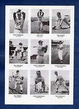 (4) UNCUT SHEETS 1955 Oakland Oaks PCL 36-card commemorative set~Doug McWilliams