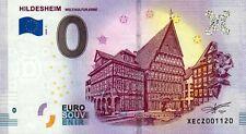 Null Euro Schein - 0 Euro Schein Hildesheim Welt.Kultur.Erbe 2018-1   NEU!!!