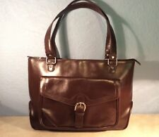 FRANKLIN COVEY Large Business Travel Bag Laptop Briefcase Carry-On Bag Brown
