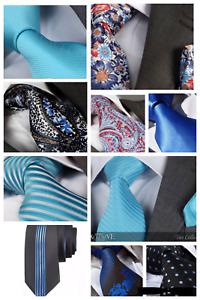 Italian Designer Milano Exclusive TURQUOISE / COBALT / PALE BLUE SILK TIE