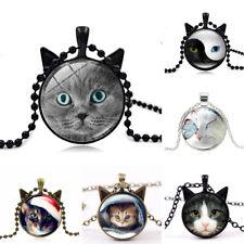 Katzen Ohren Tier Liebe mehrfarbig Geschenk Damen Anhänger Halskette