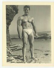 Beefcake Hunk 1950 Athletic Model Guild Gay Physique Bodybuilder Q7491