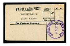 """DB1476a 1901 clonbullogue Kildare, Offaly, () """"CLIMAX Dater"""" Violet CDs/USATO PPL"""