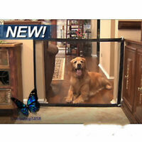 Gate Baby Stair Pet Dog Gate Safety Isolation Network Folding Seat Barrier