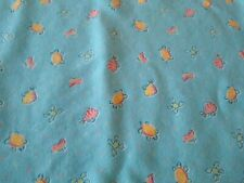Vintage Carters Receiving Blanket Fish Turtle Frog Aqua Blue