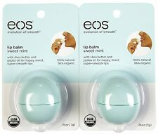 2 Pack EOS Smooth Sphere Evolution Lip Balm Sweet Mint Flavor .25oz