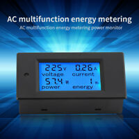 Digital AC 20A Power Meters Monitor Volt Amp kWh Watt Cambo Energy Meter w/ case